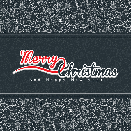 antique wallpaper: Hand drawn Christmas seamless pattern on grey color. in antique wallpaper look for website and graphic design