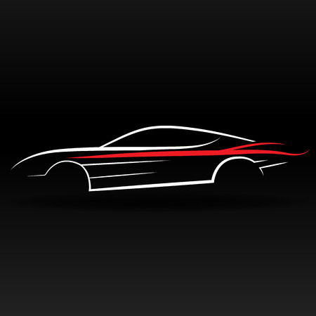 Sport car outline abstract for website and graphic design