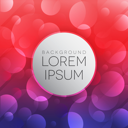 de focused: Shiny abstract bokeh background  vector eps 9 Illustration