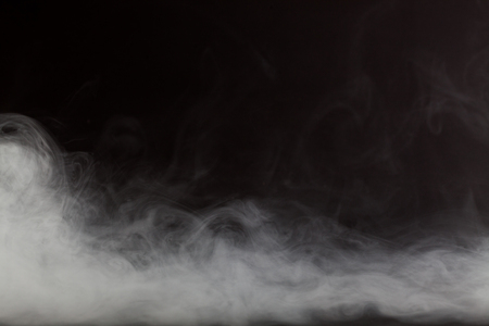 black smoke: Smoke on black background Stock Photo