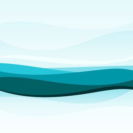 wavy background: Abstract blue wavy background Illustration