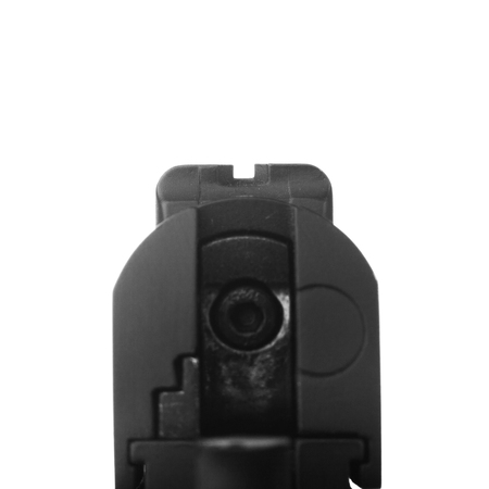rear iron sight of pistol isolated on White color background with clipping path ready to use
