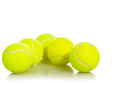 Tennis Balls sport equipment on white background with clipping path