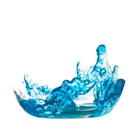 클리핑 패스와 함께 격리 된 흰색 배경에 파란색 물 스플래시