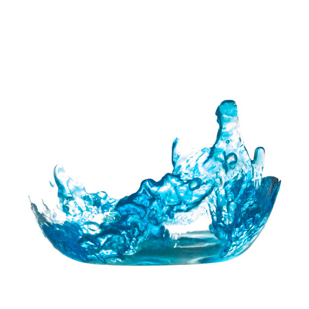 blue water splash on isolated white background with clipping path Stock fotó