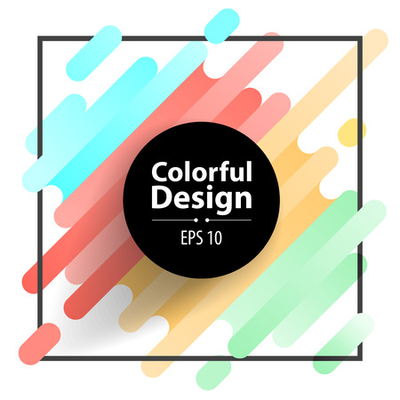 Circle frame and Colorful modern style abstract background