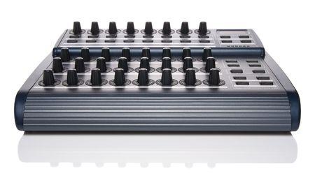 tweak: MIDI controller with shadow isolated Stock Photo