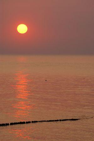 pales: Sunset in Rewal near Medzyzdroje - Poland