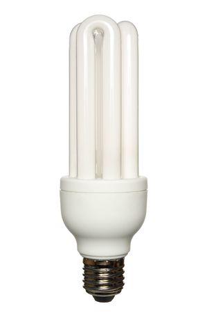 risparmio energetico: Risparmio energetico lampada isolato