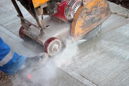 Cutting concrete photo
