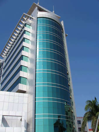 The building in city