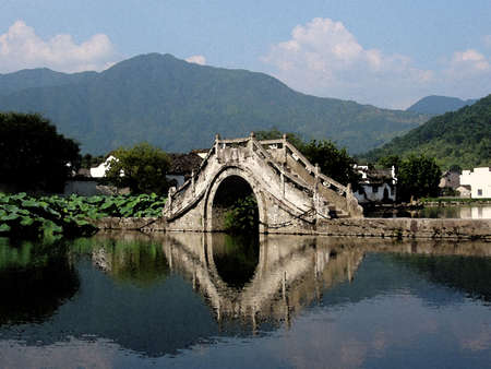 Hongcun is a interesting human culture scenery. There are many acient house.