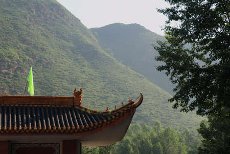 This is a gate in Wutaishan in China.