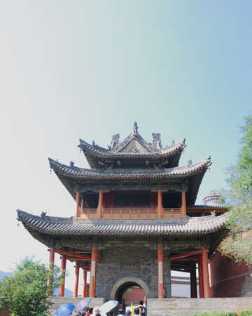 thi is a temple of buddhism in China.