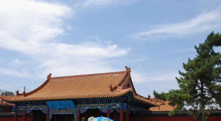 This is a architecture of buddhism in Neimonggu in China Stock Photo