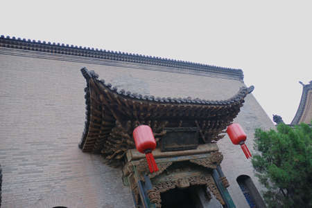 This is a ancienet architecture (such as temple,tower,building,house,and so on) in the north of China. Stock Photo