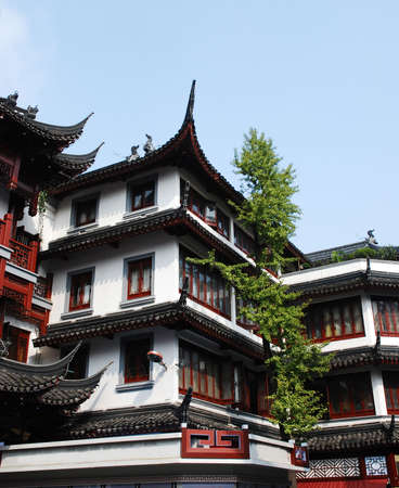Traditional and beautiful the old architecture of China photo