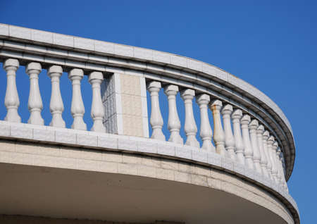 balustrade:  The balustrade of  balcony in the  house from China