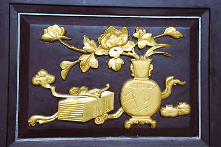 woodcarving: This is a woodcarving in China