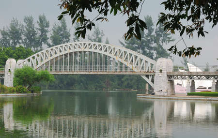 a bridge in a park in the south of China