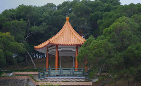 a pavilion in the public park in China