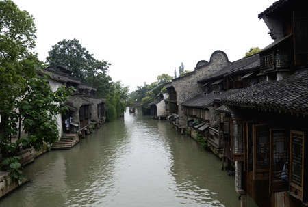 nature scenery of villege in china