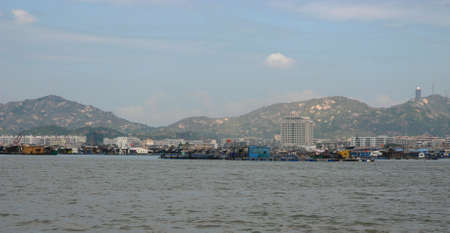 This is a city at side of sea in China