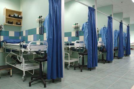 Equiped hospital room