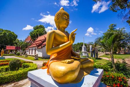 chang: Buddha in Wat rong chang at Phichit Thailand.