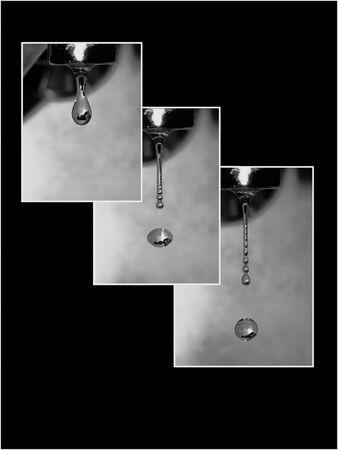 Falling drop collage