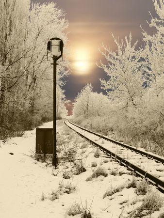 estacion tren: Carril abandonado