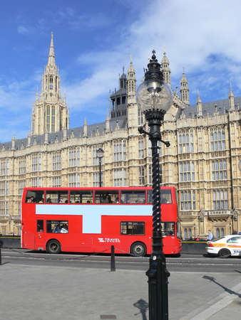 London - Westminster and red double-decker bus Stock Photo - 498847