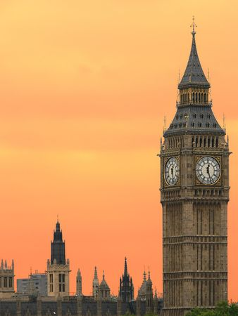 Big Ben in London at sunset Stock Photo - 511830