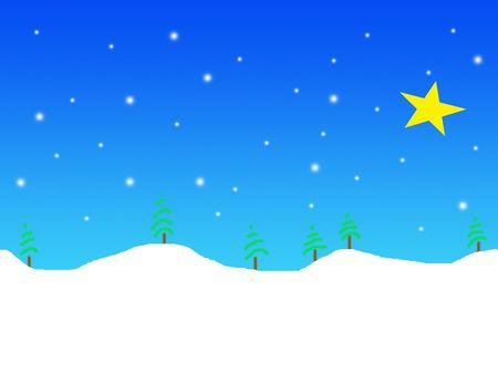 Simple winter landscape illustration Stock Illustration - 549125