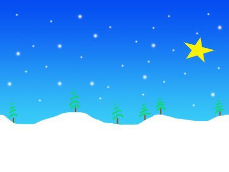 Simple winter landscape illustration Stock Illustration - 549125