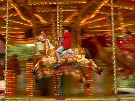 reminiscent: Merry-go-round in London