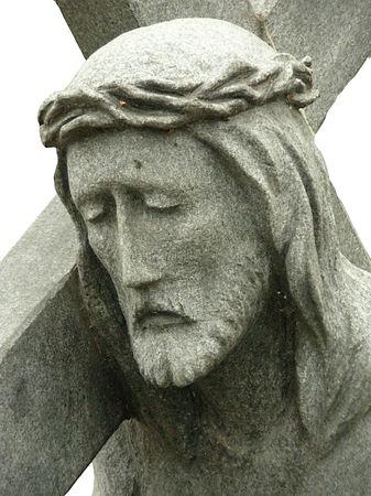 Stone statue of Jesus photo