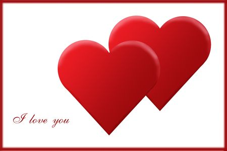 Valentine's Day card Stock Photo - 699037