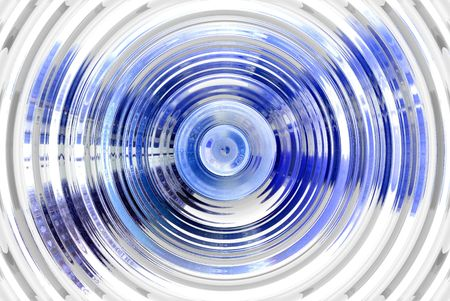 hypnotic: Abstract hypnotic blue background Stock Photo