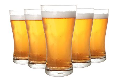 Glasses of beer isolated on white background Stock Photo - 787248