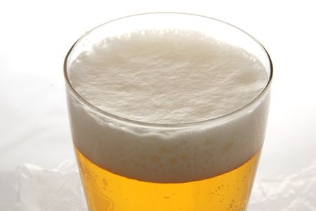 A pint of beer in closeup Stock Photo - 787253