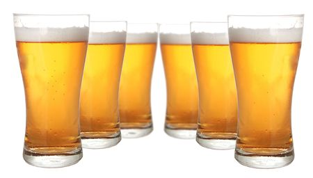 Glasses of beer isolated on white background Stock Photo - 787257