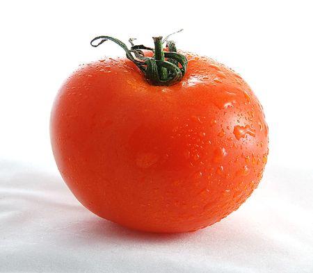 picked: Tasty fresh tomato on white background