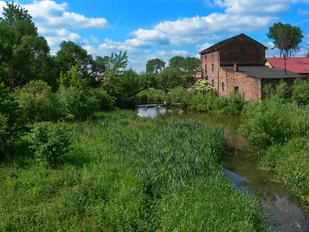 Water mill in summer photo
