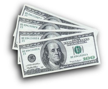 Hundred dollar notes Stock Photo - 801898