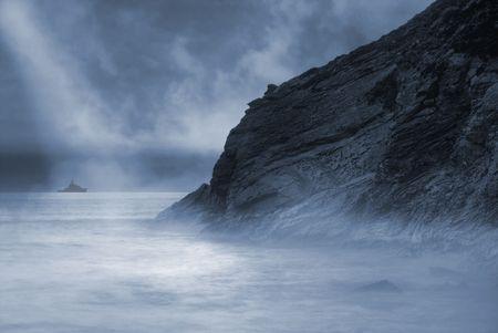 cornwall: Lusty Glaze beach in Newquay, Cornwall, UK Stock Photo
