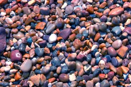 Colorful stones background photo
