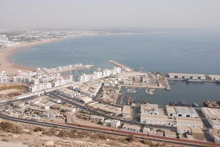 Port in Agadir, Morocco Stock Photo
