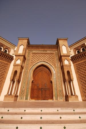 oration: Entrance to the Mosque in Agadir, Morocco Stock Photo