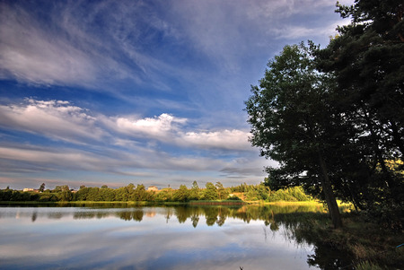 Evening by the lake Stock Photo - 1525191